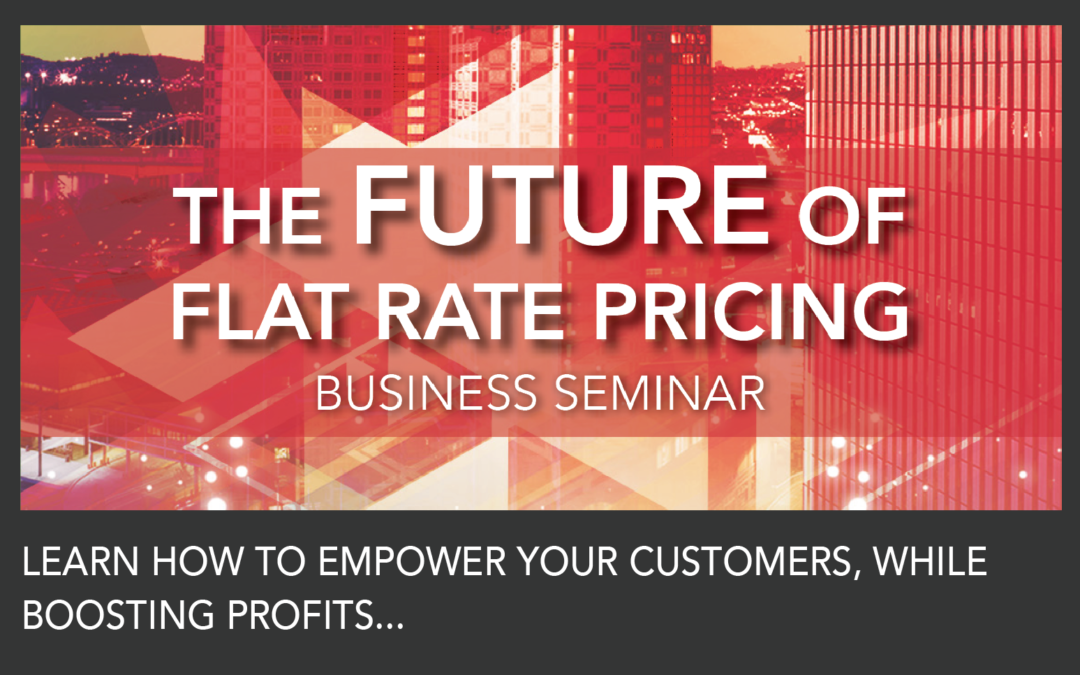 The Future of Flat Rate Profit Boosting Seminar Comes to Dallas Area