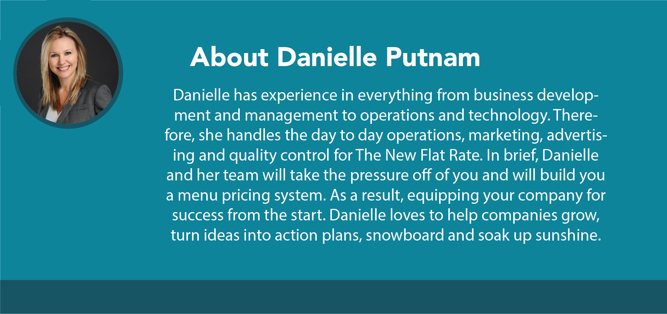 Danielle Putnam is the CEO of The New Flat Rate