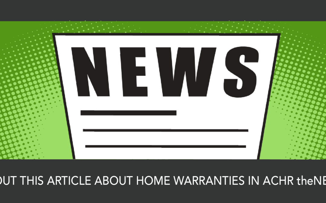 Opportunity Knocks for HVAC Contractors With Home Warranties