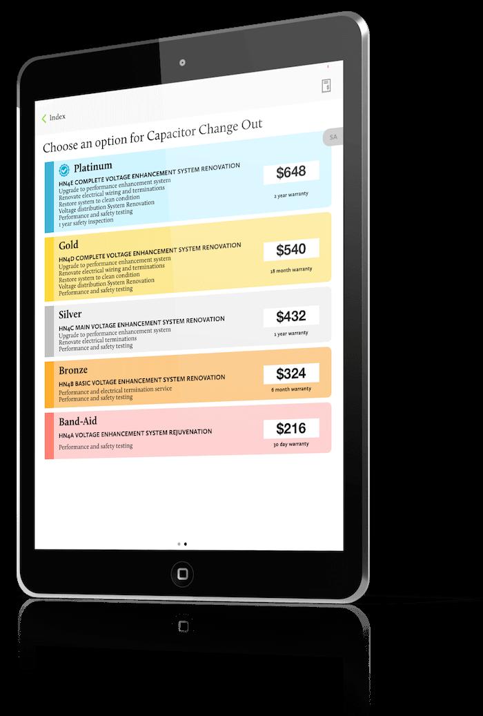 The New Flat Rate Menu Pricing iPad
